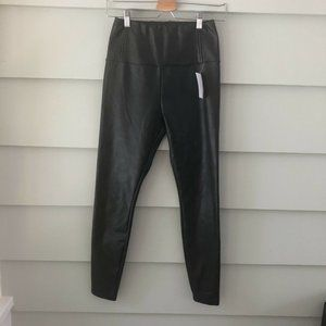 NWT Faux Vegan Leather Pull on Pants Love Fire S